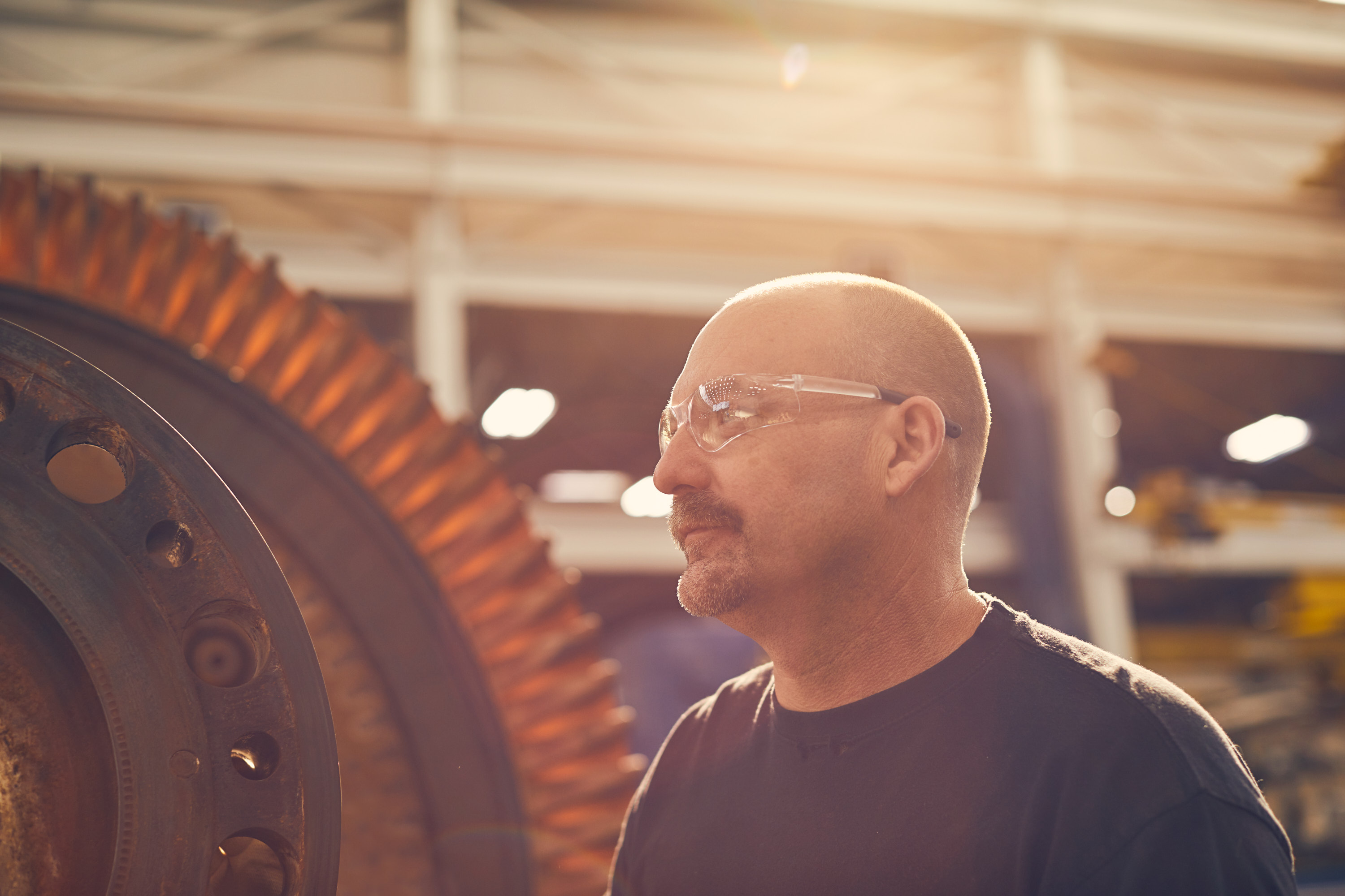 Machinist Outside | Industrial Photography