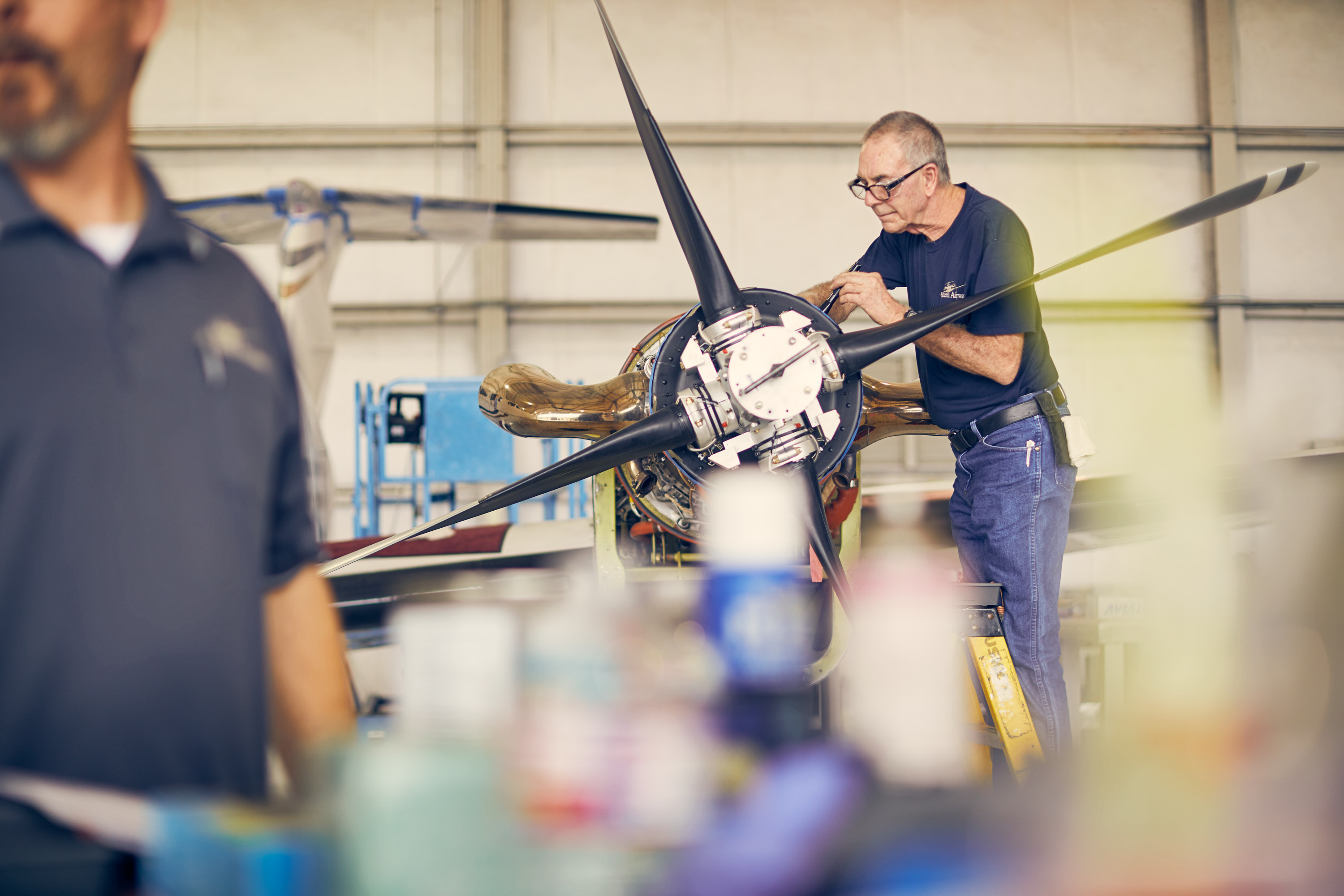 Industrial Photography | Airplane Mechanic