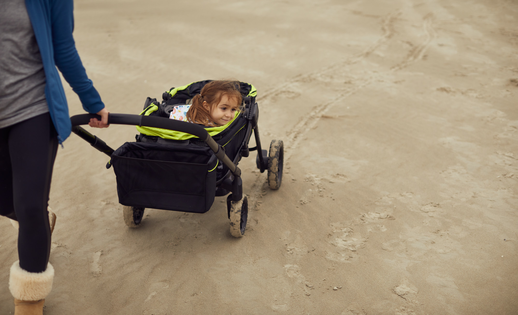 Child in Wagon on Beach | Brand Lifestyle Photography