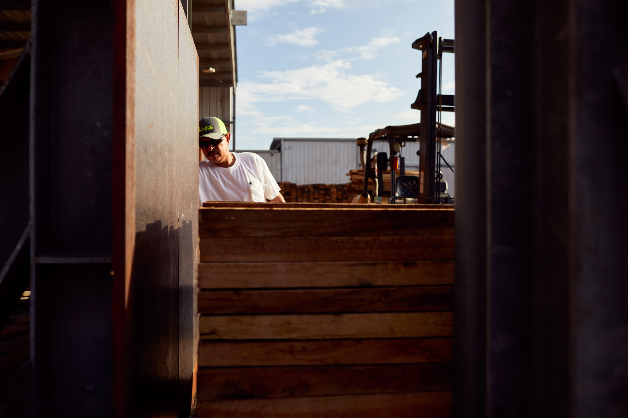 Lumber Yard Worker | Industrial Photography