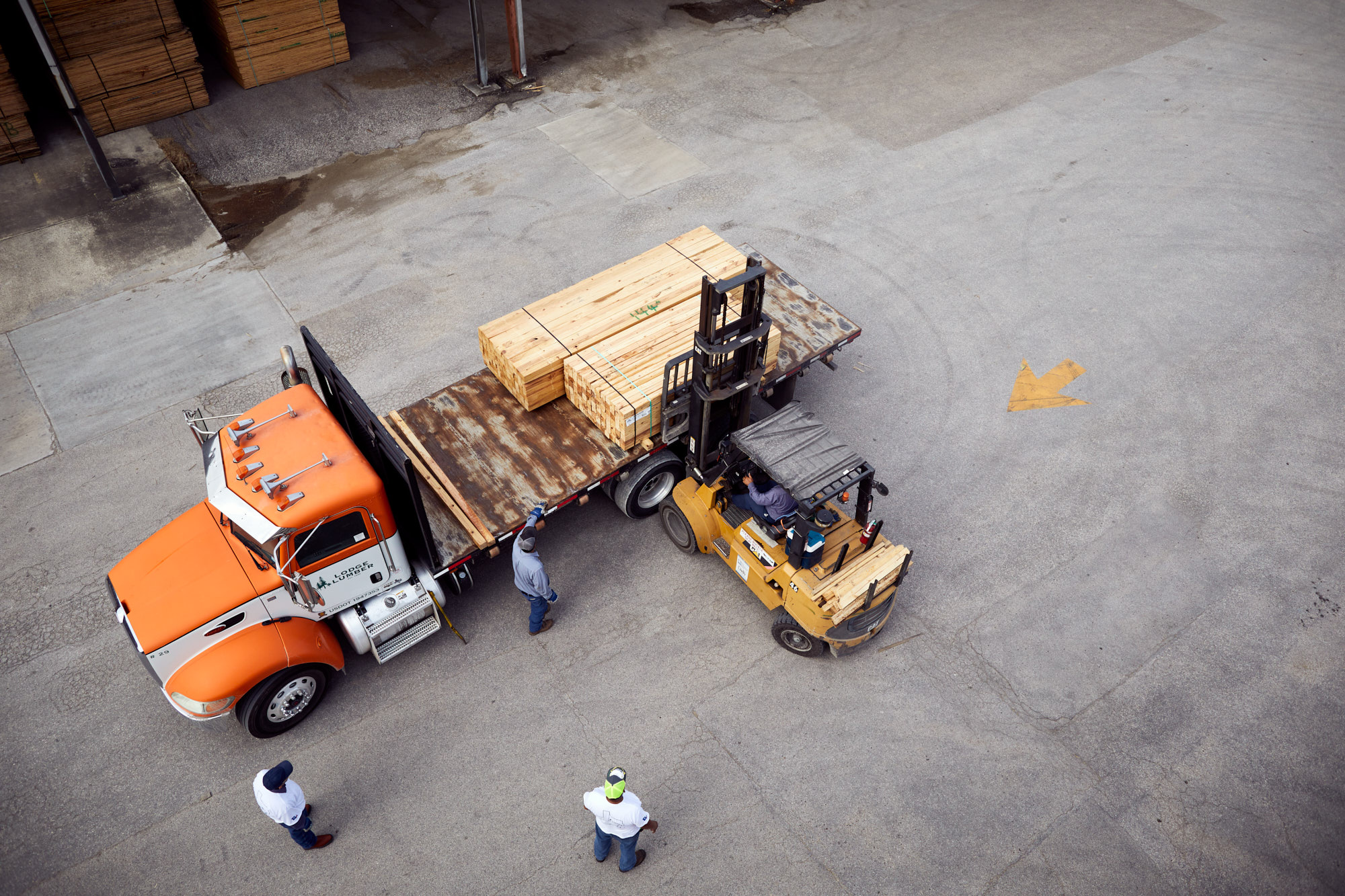 Forklift and Delivery Truck | Industrial Photography
